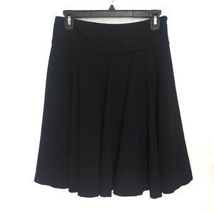 INC Black Pleaded Skirt Size 2